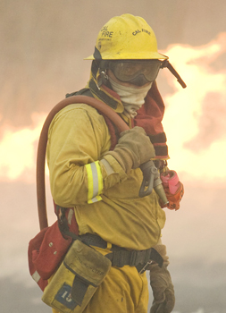 A CAL FIRE Firefighter