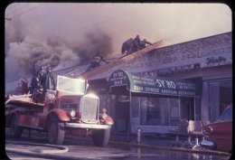 Battling a fire in Queens in 1965.