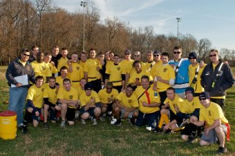 HVFD Members undertake the City of Hyattsville Police every year into the Heroes Bowl