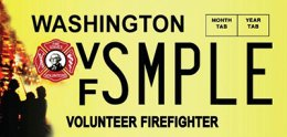 Volunteer Firefighter permit plate